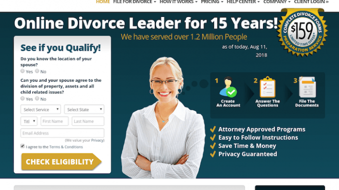 MyDivorcePapers screen shot