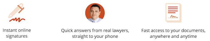 Rocket Lawyer feature and benefits