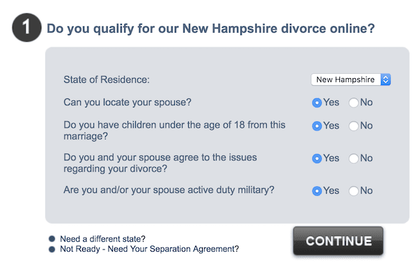 Ensure your marriage qualifies with 3StepDivorce